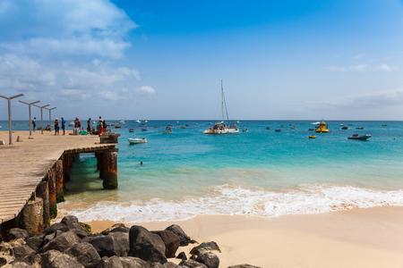 cape: Santa Maria beach pontoon in Sal Island Cape Verde - Cabo Verde
