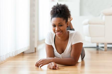 african american woman: Beautiful African American woman portrait  - Black people