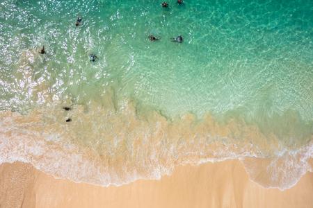 サンタ マリア ビーチ - カーボベルデのサル島カーボベルデの航空写真