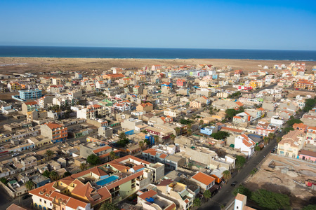 appartment: Aerial view of Santa Maria city in Sal Island Cape Verde - Cabo Verde