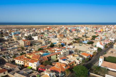 cape: Aerial view of Santa Maria city in Sal Island Cape Verde - Cabo Verde