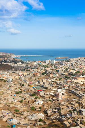 shantytown: View of Praia city in Santiago - Capital of Cape Verde Islands - Cabo Verde