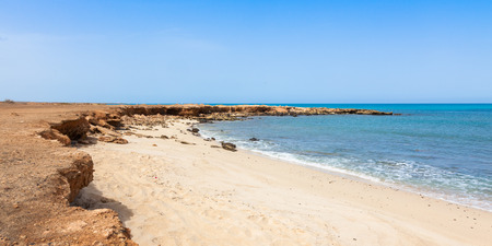 Panoramic view of Murdeira bay beach in Sal Cape Verde - Cabo Verde