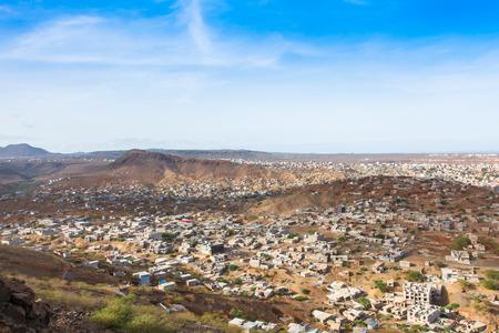 santiago cape verde: View of Praia city in Santiago - Capital of Cape Verde Islands - Cabo Verde