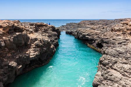 cape: Buracona  in Sal Island Cape Verde - Cabo Verde Stock Photo