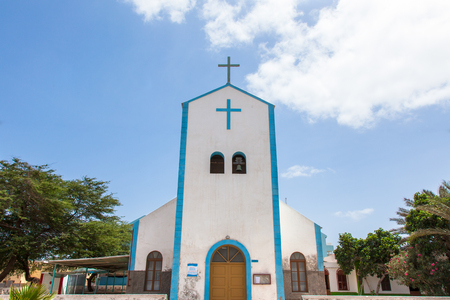 santa Maria city church in Sal island, Cape Verde - Cabo Verde