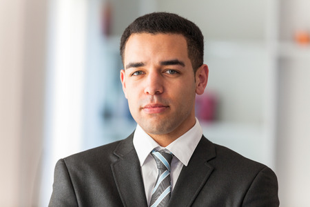 black professional: Latin American business man  portrait