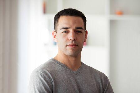 latin american: Young latin American man portrait Stock Photo