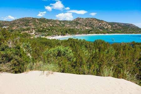 paradise bay: Rondinara beach in Corsica Island in France Stock Photo
