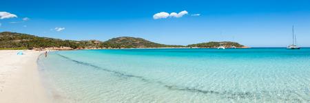 panoramic view: Panoramic view of Rondinara beach in Corsica Island in France