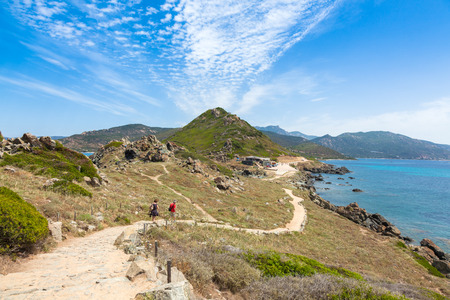 bloodthirsty: Sanguinaires bloodthirsty Islands hiking path in Corsica, France