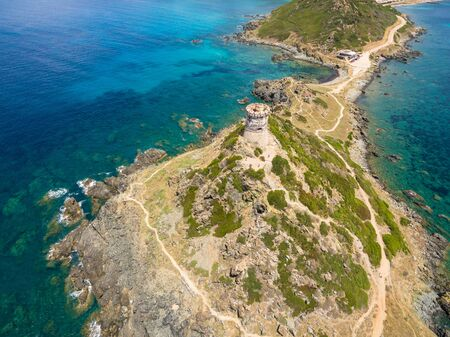 bloodthirsty: Aerial view of Sanguinaires bloodthirsty Islands in Corsica, France