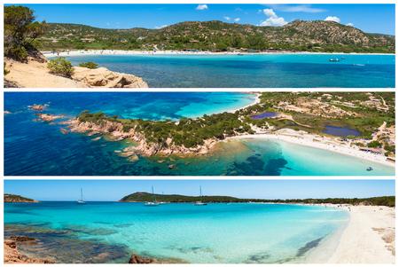 Foto Collage der Korsika Landschaft in Frankreich Standard-Bild
