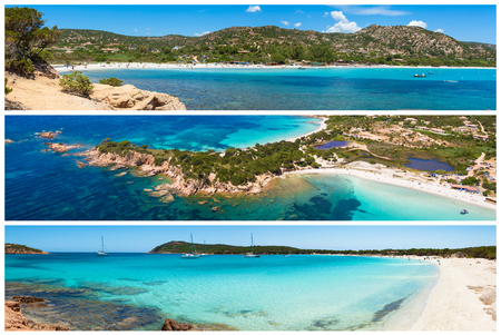 Foto Collage der Korsika Landschaft in Frankreich