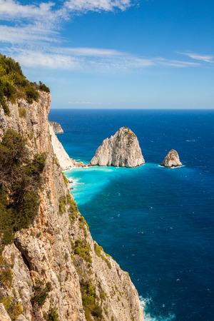 Keri cliffs in Zakynthos (Zante) island in Greece Stock Photo