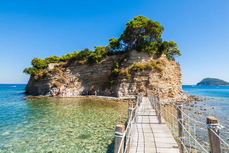 Cameo Island in Zakynthos (Zante) island, in Greece Foto de archivo