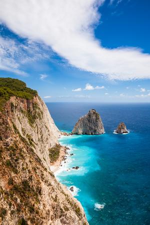 Keri cliffs in Zakynthos (Zante) island in Greece Banco de Imagens