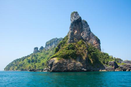 Chicken Island  beach between Phuket and Krabi in Thailand