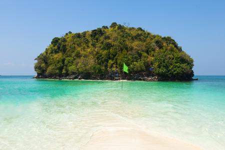 Tup Island  beach between Phuket and Krabi in Thailand