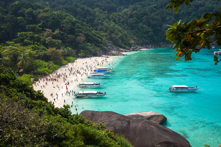 Similan island beach near Phuket in Thailand Stock Photo