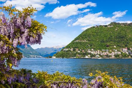 Como city and lake near Milan - Italy