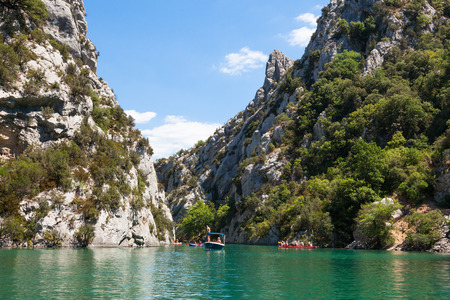 Gorge du Verdon canyon river in south of France Stock Photo