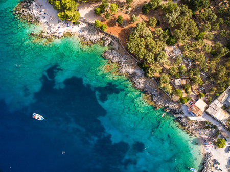 Aerial  view of  Agios Nikolaos city  in Zakynthos (Zante) island, in Greece Imagens
