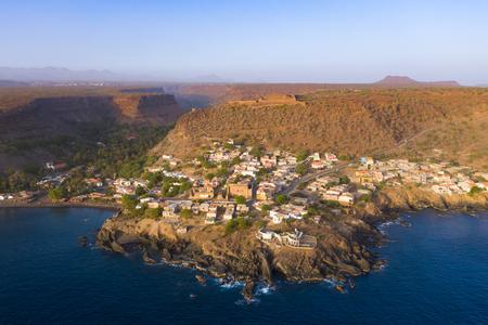 Aerial view Cidade Velha city  in Santiago - Cape Verde - Cabo Verde