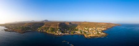 Aerial panoramic view Cidade Velha city  in Santiago - Cape Verde - Cabo Verde