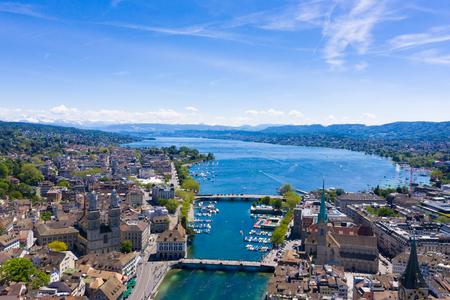 Luftaufnahme der Stadt Zürich in der Schweiz
