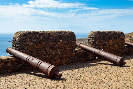 Cidade Velha old fort in Santiago - Cape Verde - Cabo Verde Stock Photo