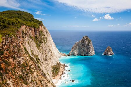 Keri cliffs in Zakynthos (Zante) island in Greece Stock Photo