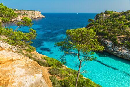 Beautiful beach Cala des Moro, Palma Mallorca, Spain, Balearic island