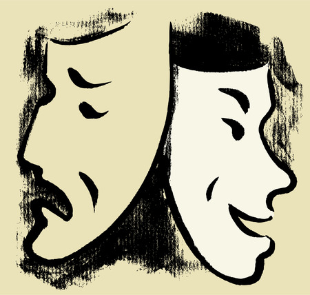 Vectoe image of the theatrical masks.
