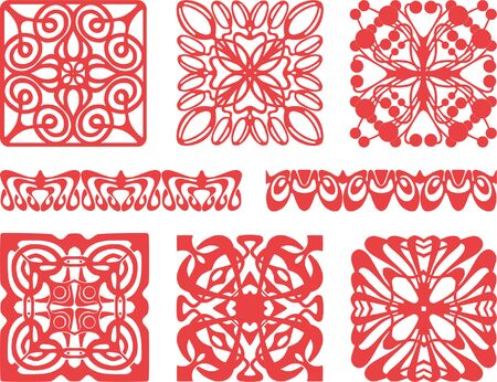 The vector design of a different decorative elements. Çizim