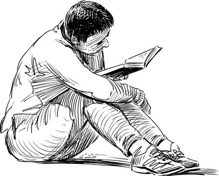 Een Vector schets van een persoon.