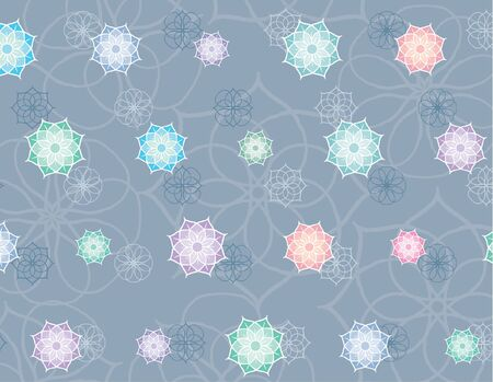 Vector background with a different decorative elements. Different groups of elements in various layers.