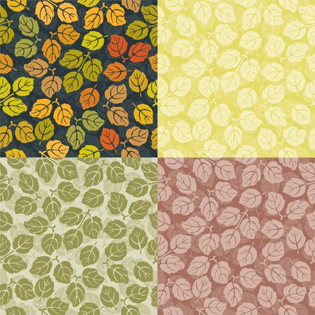 The vector background from decorative leaves. Illustration