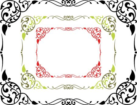 The vector drawing of a decorative frame. Illustration
