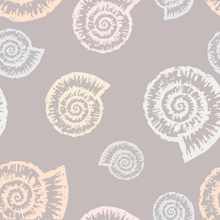 Vector pattern of the sea shells.