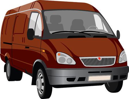 Dibujo vectorial de un camión fácil. Foto de archivo - 80108809