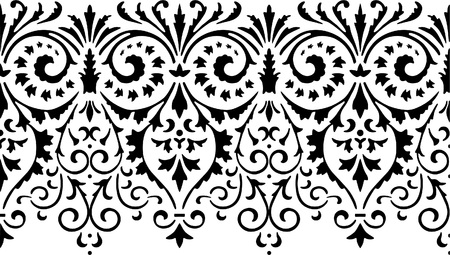 Vector drawing of a fragment of a decorative border. Ilustração