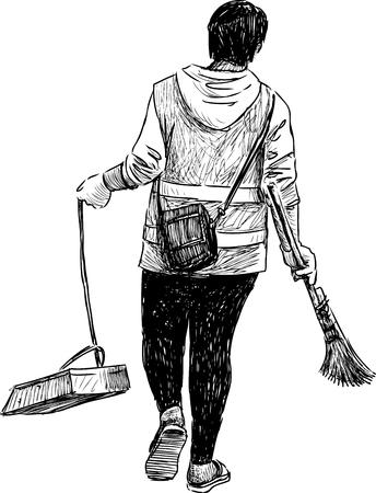 sweeper: Sketch of a street sweeper