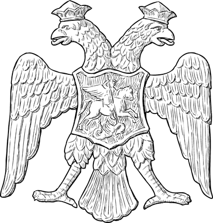 Sketch of a double-headed eagle