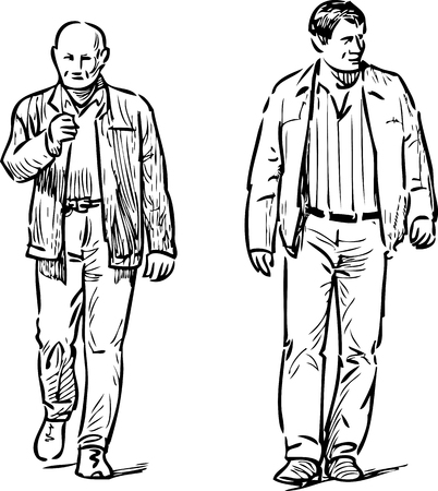 striding: Sketches of the casual townsmen