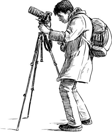 A photographer takes photo