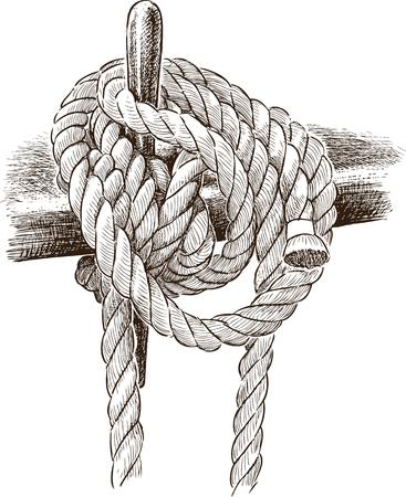 リギング ロープのベクトル描画