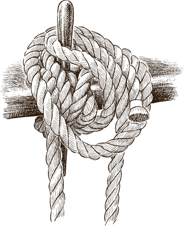 Vector drawing of a rigging rope