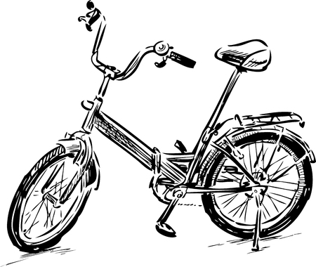 A Vector drawing of a stroll bicycle.