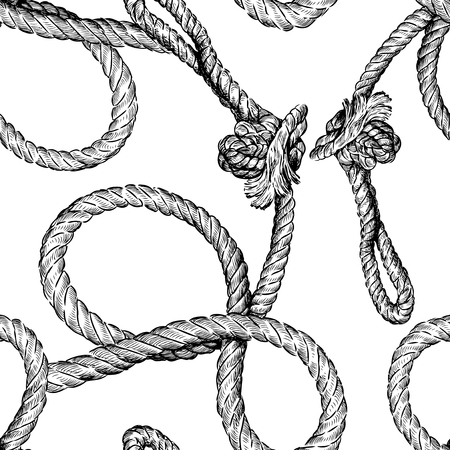 Seamless background from twisted rope